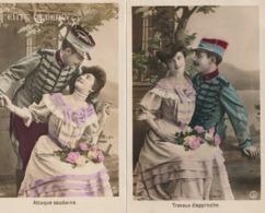 COUPLES - Lot De 5 CPA ( Le Flirt ) - Couples