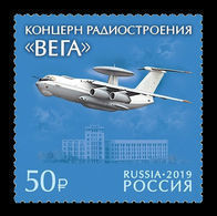 Russia 2019 Mih. 2701 Vega Radio Engineering Corporation. Aviation. Aircraft A-50 MNH ** - Ongebruikt
