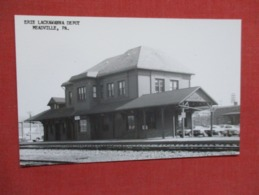 RPPC---------Erie Lackawanna Depot  Meadville  Pennsylvania  Kodak Stamp Box    Ref 3642 - United States