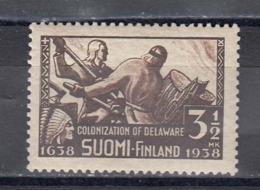 Finland 1938 - 300. Jahrestag Der Ersten Auswanderung Von Finnen Nach Amerika, Mi-Nr. 212, MNH** - Finland