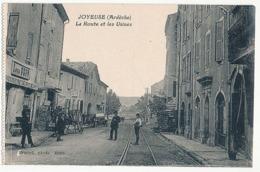 JOYEUSE - LA ROUTE ET LES USINES ( CP DE CARNET) - Joyeuse
