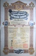 Emprunt Industriel Du Gouvernement De La République Chinoise 5% Or 1914 (obligation De 500 Francs Au Porteur) - Actions & Titres