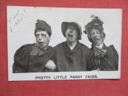 Pretty Little Pansy Faces     Ref 3642 - Humour