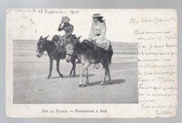 OOSTENDE 1901 SUR LA PLAGE PROMENADE A ANE - Oostende