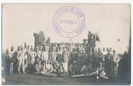 CARTE PHOTO MILITAIRE - TROUPE D'OCCUPATION DU MAROC OCCIDENTAL MUSIQUE - Casablanca