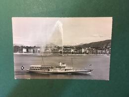 Cartolina Geneve - Le Jet D'Eau - Et Le Mont Blanc - 1961 - Cartoline