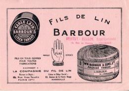 Thematiques Buvard Barbour's Barbour Fil De Lin Cachet Brault Bellec 19 Rue De Nantes Fougeres - Textile & Clothing