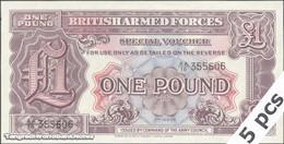TWN - GREAT BRITAIN M22a - 1 Pound 1948 DEALERS LOT X 5 - Prefix AA/10 - 2nd Series UNC - Banconote