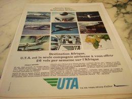 ANCIENNE PUBLICITE AFRIQUE  ET   UTA 1966 - Advertisements