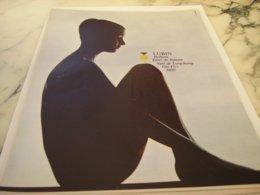 ANCIENNE  PUBLICITE PARFUM EAU DE ROILETTE DE LUBIN  1966 - Perfume & Beauty