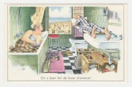 Illustrateur ? Humour Vacances Couple Dormant Dans La Salle De Bains On A Bien Fait De Louer D'avance ! - Illustrators & Photographers