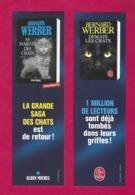 Marque Page.    Bernard Werber.   La Saga Des Chats.   Livre De Poche Et Albin Michel.   Chat.   Bookmark. - Marque-Pages