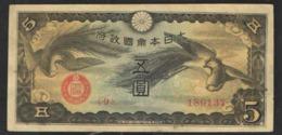 JAPAN CHINESE OCCUPATION 5 YEN  1940 - Japón