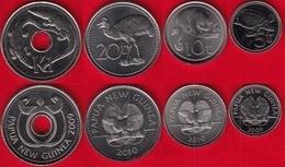 Papua New Guinea Set Of 4 Coins: 5 Toea - 1 Kina 2009-2010 UNC - Papoea-Nieuw-Guinea