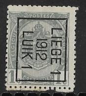 Luik 1912 Typo Nr. 23Bzz - Precancels