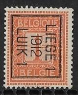 Luik 1912 Typo Nr. 31Bzz - Vorfrankiert