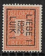 Luik 1912 Typo Nr. 31Bzz - Precancels