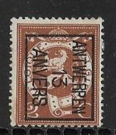 Antwerpen 1913 Typo Nr. 40Bzz - Vorfrankiert