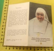 Madre MARIA COSTANZA ZAULI  SANTINO Reliquia - Santini