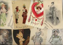 Lot 2159 De 10 CPA Femme Girl Women Glamour Dont Art Nouveau Déstockage Pour Revendeurs Ou Collectionneurs - 5 - 99 Postales