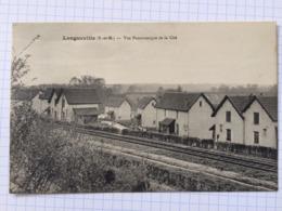 Guerre 14-18, Cachet Hopital Temporaire, Longueville, Vue Panoramique De La Cité - Autres Communes
