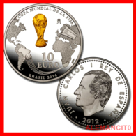 "ESPAÑA 10 EURO PLATA PROOF ""COPA MUNDIAL DE LA FIFA ( BRASIL 2014 ) AÑO 2012 - España"