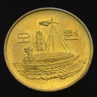Korea, South 5 Won 1983-1987. Ships Warships, UNC Coin Km32 - Korea, South