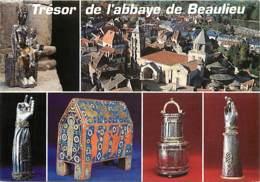 19 - Beaulieu Sur Dordogne - Trésors De L'abbaye St-Pierre - Multivues - Art Religieux - Voir Scans Recto-Verso - France