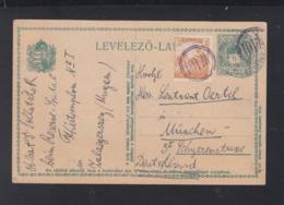 Hungary Stationery Zalaegerszeg 1918 To Germany - Hungary