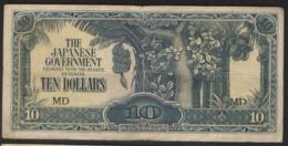 MALAYA  JAPANESE OCCUPATION 10 $    1942-44 - Malaysia