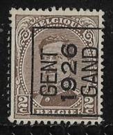 Gentr 1926 Typo Nr. 130A - Sobreimpresos 1922-26 (Alberto I)