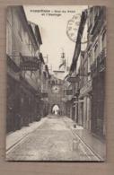 CPA 30 - SOMMIERES - Rue Du Pont Et L'Horloge - TB PLAN Petite Rue + Devantures MAGASINS COIFFEUR MERCERIE - Sommières