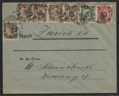 1923 Dt.Reich Mi. 338(5), 339, 340 STUTTGART N. ZÜRICH, SCHWEIZ - 30 Pfg PORTOGERECHT - Lettres & Documents
