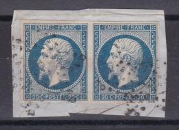 CP 117 / NAPOLEON N° 14 OBL / PAIRE - 1853-1860 Napoleon III