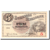 Billet, Suède, 5 Kronor, 1952, 1952, KM:33ai, TB+ - Schweden