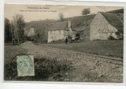 36 TRAMWAYS De L'INDRE Ligne De SAint Benoit Du Sault à Chaillac   Train  Passant Dans Campagne Paysans Cheval D14 2019 - Unclassified