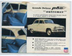 """AUTOMOBILE SIMCA  ARONDE Deluxe P60 """" Outremer """" Voiture Concue Pour Les Pays Chauds  écrite De CASABLANCA   D14 2019 - Passenger Cars"""