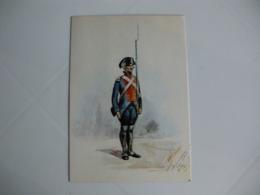 Postcard Postal Portugal Uniformes Militares Portugueses Soldado Do Batalhão Da Ilha Terceira  1797 - Uniformes
