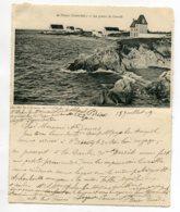 44 PIRIAC Sur MER Interessante CARTE DOUBLE écrite 1909 Pointe Castelli Villas Et  Place Eglise  Artaud Noi    D14 2019 - Piriac Sur Mer