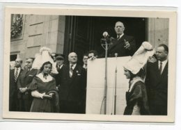 50 AVRANCHES  CARTE PHOTO   Discours Générall De Gaulle En Visite  Reportage Photo Armand LE NOAN     D14 2019 - Avranches