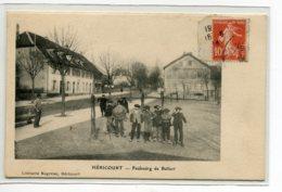 70 HERICOURT Faubourg De Belfort Groupe Jeunes Garcons à Berets  écrite Juin 1914 Timb    D14 2019 - Francia