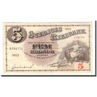 Billet, Suède, 5 Kronor, 1952, 1952, KM:33ai, TB - Schweden
