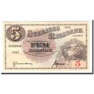 Billet, Suède, 5 Kronor, 1952, 1952, KM:33ai, TTB - Schweden