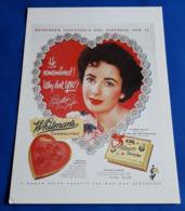 "ELIZABETH TAYLOR # Werbung/Advertising ""Whitman's CHOCOLATES"" # AK-Format Ca. 12,5 X 17,5 Cm # [19-497] - Künstler"