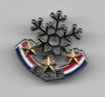 Pin's, Broche  Argent  Sport  SKI  E.S.F  3  étoiles  OR  Verso  4  DECAT - Invierno