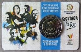0062 - COINCARD Belgique - 2 Euros Commémo. - 2016 - Jeux Olympiques Dété à Rio - Bélgica