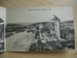 Carte Double Vailly Sur Aisne Gare En 1914 Et En 1920 - Altri Comuni