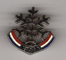 Pin's, Broche  Argent  Sport  SKI  E.S.F  0  étoile  Verso  8  DECAT  PARIS - Invierno