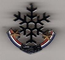 Pin's, Broche  Argent  Sport  SKI  E.S.F  2  étoiles  Verso  4  DECAT - Invierno