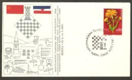 Yugoslavia 1967 Budva - Chess Cancel On Commemorative Envelope - Schach
